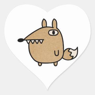 Beautiful Fox Heart Sticker