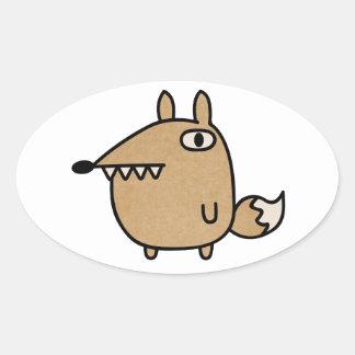 Beautiful Fox Oval Sticker