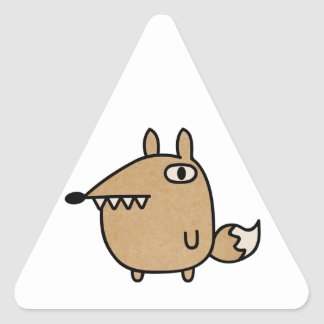 Beautiful Fox Triangle Sticker