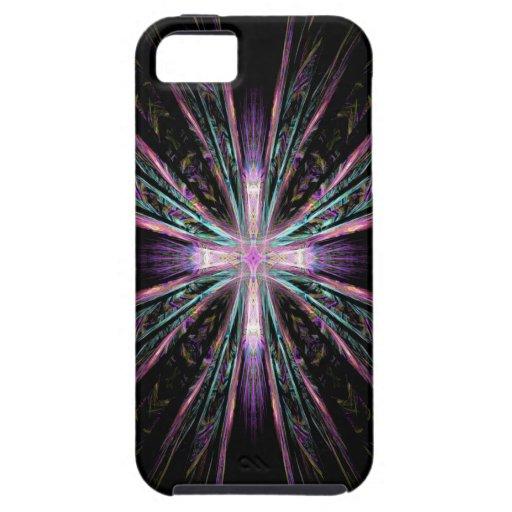 Beautiful fractal cross iphone case iPhone 5 case