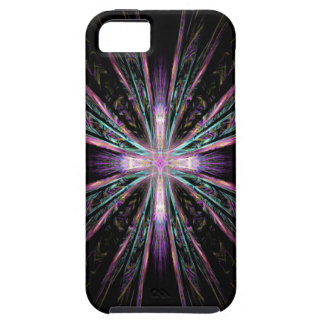 Beautiful fractal cross iphone case iPhone 5 covers