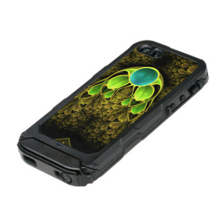 Beautiful Fractal Feathers of the Quetzal Bird Waterproof Case For iPhone SE/5/5s