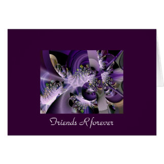 Beautiful fractal friends R forever greeting card