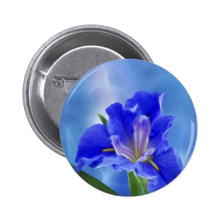 Beautiful fractal iris and its meaning pinback button