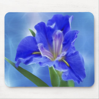 Beautiful fractal iris and its meaning mouse pad