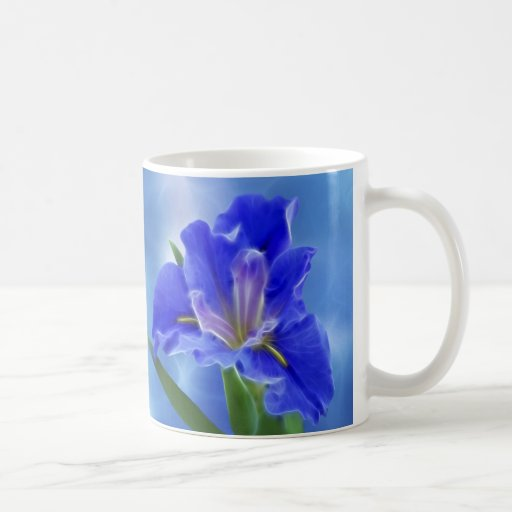Beautiful fractal iris and its meaning classic white coffee mug
