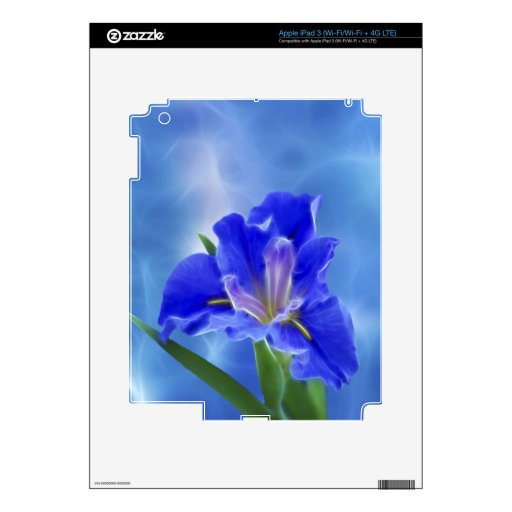 Beautiful fractal iris and its meaning iPad 3 decal