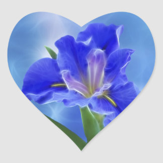 Beautiful fractal iris and its meaning heart sticker