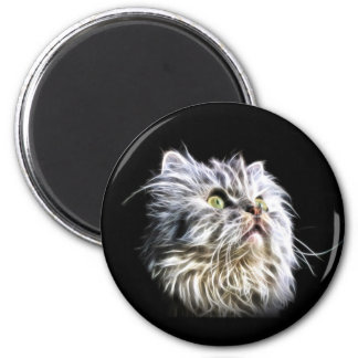 Beautiful Fractalius persian cat face Magnet