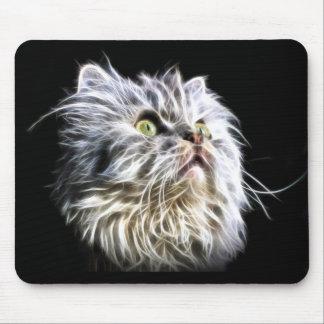 Beautiful Fractalius Persian cat face Mouse Pad