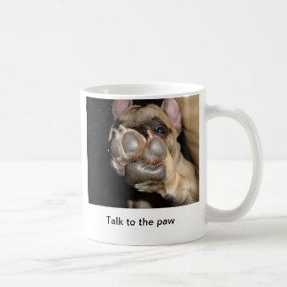 Beautiful French bulldog coffee goblet: Tallow to  Classic White Coffee Mug