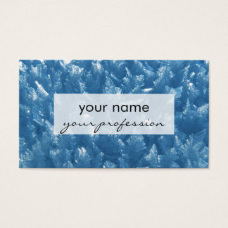 beautiful fresh blue ice crystals photograph business card