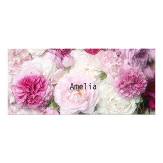 Beautiful,fresh,pink,white,roses,pattern,vivid,fun Rack Card