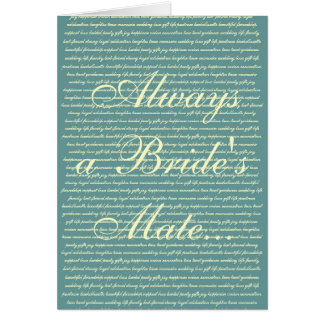 beautiful friendship support love bridal party ... card