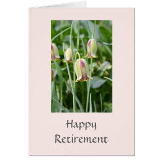 Beautiful Fritillaria  Flowers Retirement Card