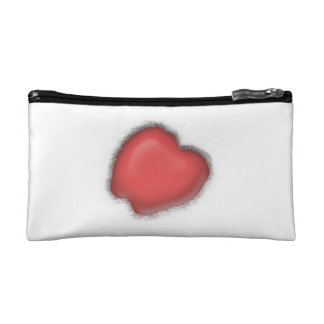 Beautiful Frosted Heart! Cosmetic Bag