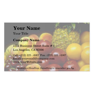 Beautiful Fruits Double-Sided Standard Business Cards (Pack Of 100)