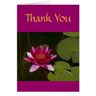 """""""Beautiful Fuchsia-Colored Lotus Blossom"""" Card"""
