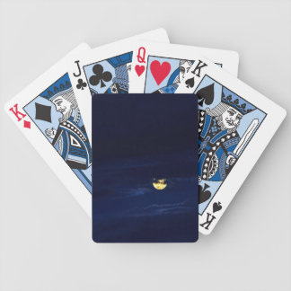 Beautiful Full Moon in Midnight Blue Clouds Bicycle Playing Cards