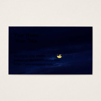 Beautiful Full Moon in Midnight Blue Clouds Business Card