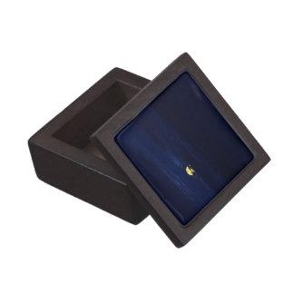 Beautiful Full Moon in Midnight Blue Clouds Jewelry Box