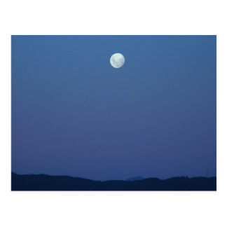 Beautiful Full Moon In The Evening Postcards