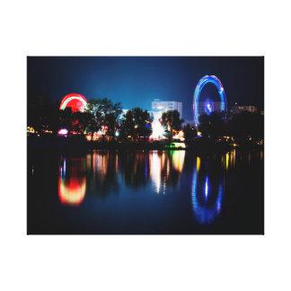Beautiful Funfair Lights Canvas Print