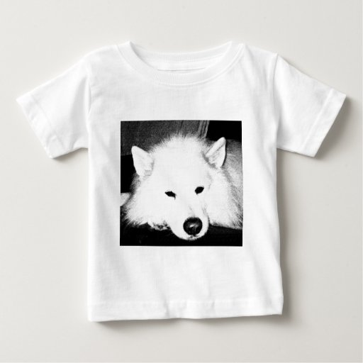 Beautiful furry Samoyed white dog Baby T-Shirt