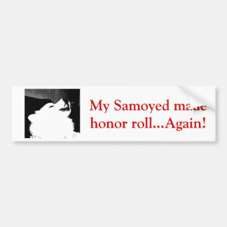 Beautiful furry Samoyed white dog Bumper Sticker