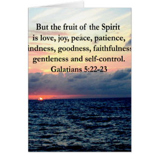 BEAUTIFUL GALATIANS FRUITS OF THE SPIRIT CARD