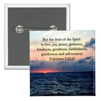 BEAUTIFUL GALATIANS FRUITS OF THE SPIRIT PINBACK BUTTON