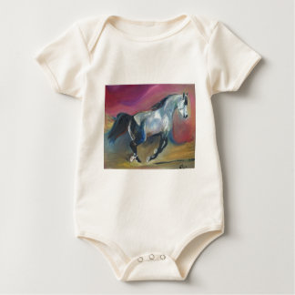 Beautiful Galloping Horse Toddler Clothing Baby Bodysuit