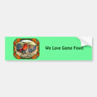Beautiful Game Fowl Car Bumper Sticker