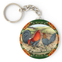 Beautiful Game Fowl Keychain