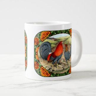 Beautiful Game Fowl Large Coffee Mug