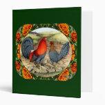 Beautiful Game Fowl Vinyl Binder