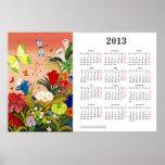 Beautiful Garden 2013 Calendar Poster