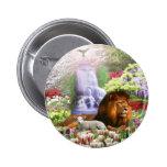 Beautiful Garden 2 Inch Round Button