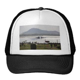 Beautiful garden and Dal Lake in Srinagar Trucker Hats