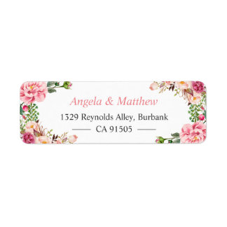 Beautiful Garden Floral Wrap Personalized Label