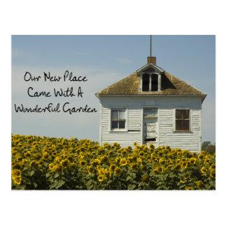 Beautiful Garden - Funny Change of Address Postcard