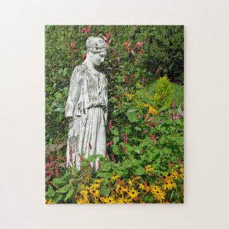Beautiful garden goddess statue puzzle