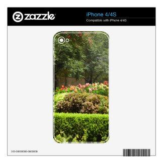 beautiful garden iPhone 4S skins
