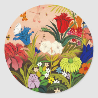Beautiful Garden Round Sticker