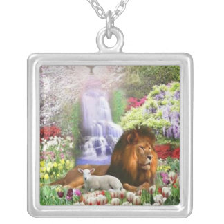 Beautiful Garden Square Pendant Necklace