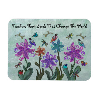 Beautiful Garden Teachers Magnets
