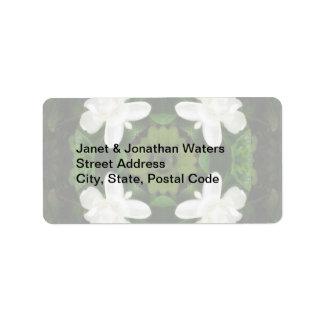 Beautiful Gardenia 5 Kaleidoscope 1 Address Label