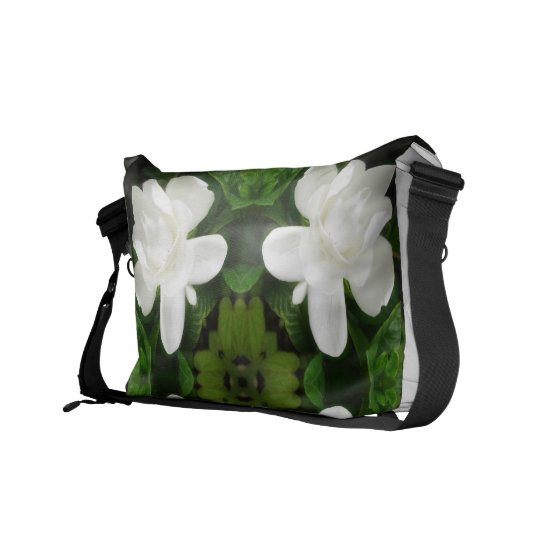 Beautiful Gardenia 5 Kaleidoscope 1 Messenger Bag