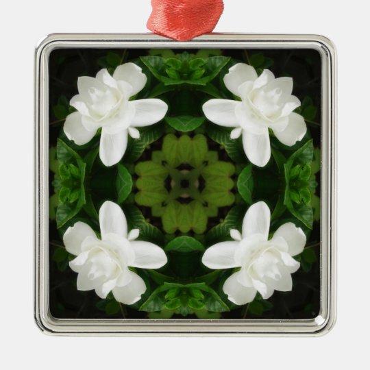 Beautiful Gardenia 5 Kaleidoscope 1 Metal Ornament