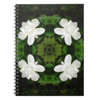 Beautiful Gardenia 5 Kaleidoscope 1 Spiral Notebook